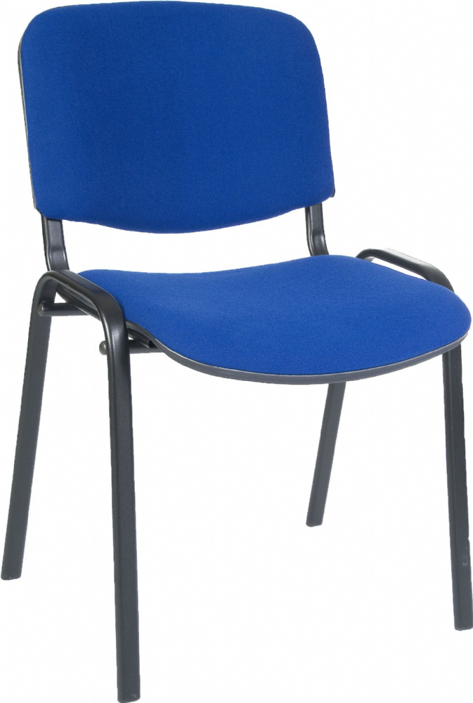 TEKNIK Conference Stacking Chair with Blue or Charcoal Seat